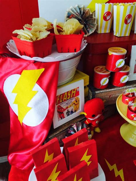 The flash superhero birthday party ideas photo 9 of 14 catch my party