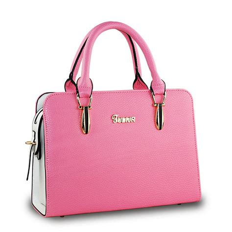 Bag Fashion S744 Pink 2016 luxury handbags colors fashion pu leather messenger bags casual pink