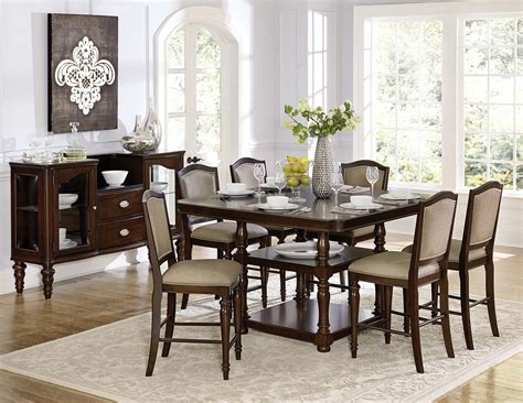 Homelegance Dining Room Furniture Homelegance Marston Counter Height Dining Set Cherry D2615dc 36