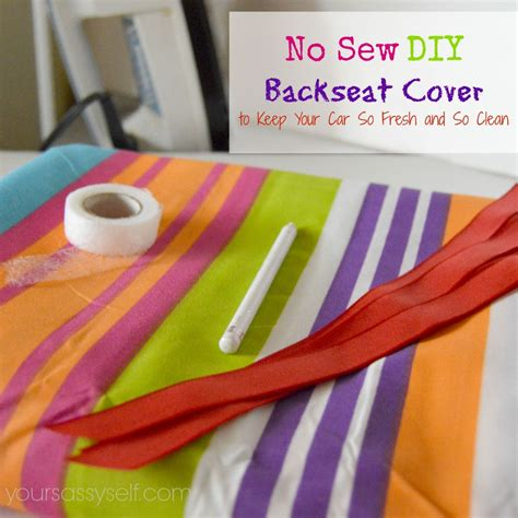 Diy No Sew Cover by No Sew Diy Backseat Cover To Keep Your Car So Fresh And So