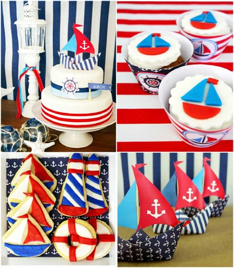 printable party theme decorations nautical party decorations party favors ideas