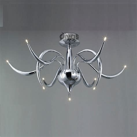 Chrome Ceiling Light Fitting Diyas Uk Llamas Il30140 Polished Chrome 9 Light Ceiling