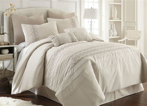 8 piece pleated comforter set