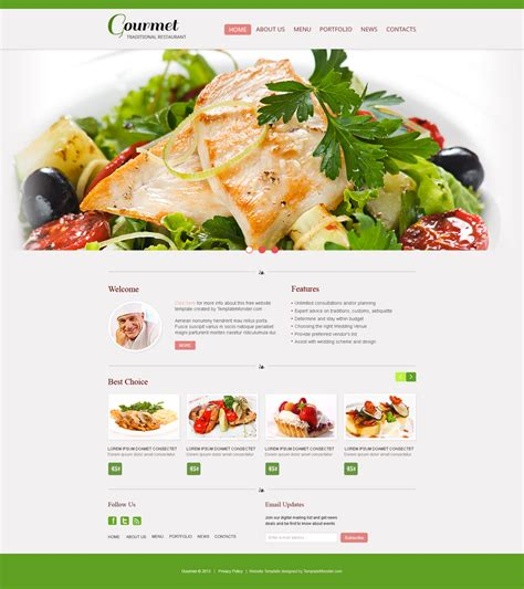30 Best Free Restaurant Templates And Themes Best Food Templates