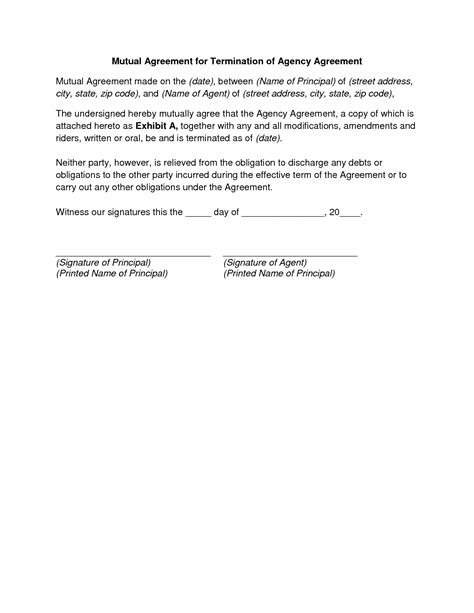 8 sample of contract termination letter three blocks