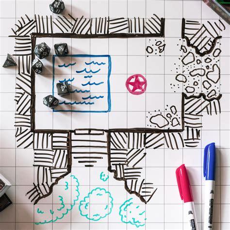 1 Inch Erase Mat - rpg battle grid mat 24 quot x 36 quot sided w