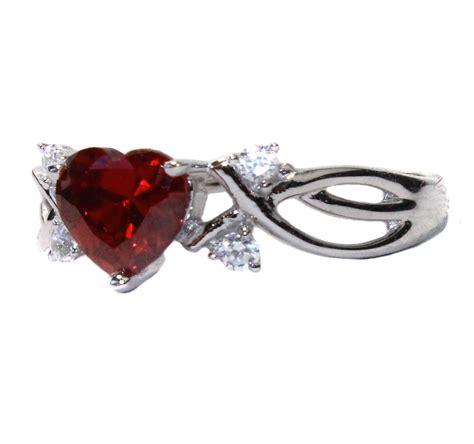 ruby shaped ring cubic zirconia beautiful