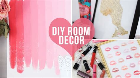 Cheap Bedroom Ideas For Teenage Girls 3 easy room decor wall art diys laurdiy youtube