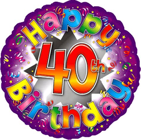 happy 40th birthday images happy 40th birthday transparent png stickpng