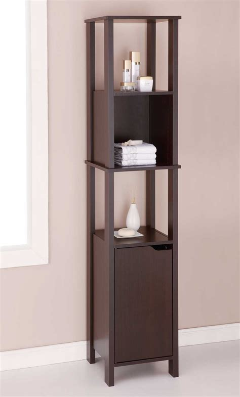 bathroom high cabinet wood cabinet high in bathroom shelves