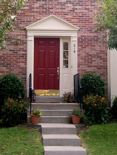 front door colors with red brick blossom and bev a new red front door