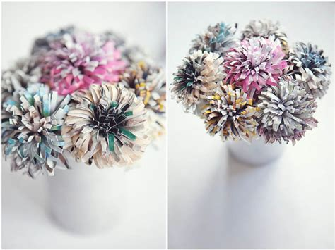 How To Make Recycled Paper Flowers - paper flowers