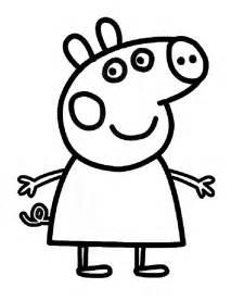 peppa pig drawing templates sta disegno di peppa pig da colorare