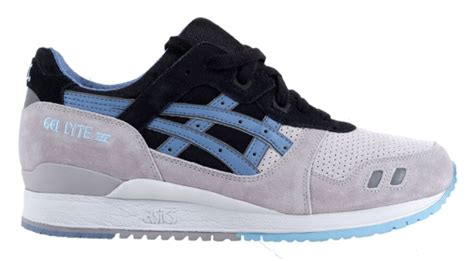 asics gel lyte iii grey light blue black
