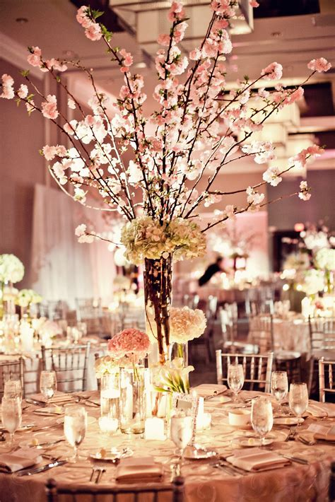 cherry blossom arrangements cherry blossom centerpieces by petal productions reminds