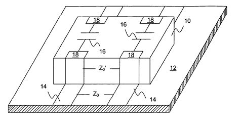 transmission line capacitor patent us20040136141 transmission line capacitor