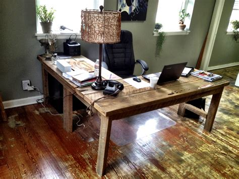 how to build an l shaped desk from scratch l shaped desk that i built out of salvaged floor boards