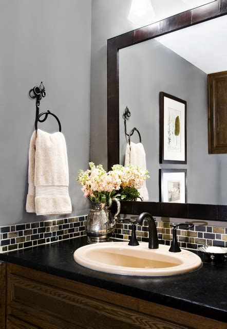 Brushed Brass Bathroom Faucet by Powder Bath Remodel Traditional Powder Room Austin