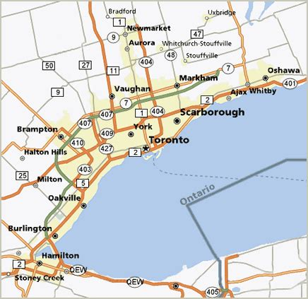 thornhill ontario map
