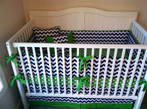 blue and green crib bedding items similar to modern green and navy blue chevron crib