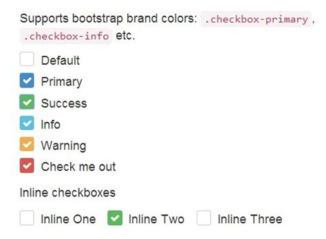 css layout checkbox pretty checkbox radio inputs with bootstrap and awesome