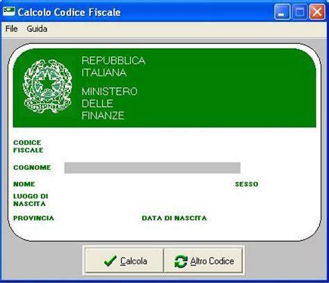 lettere codice fiscale codice fiscale scarica gratis free programma