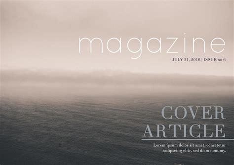 Free Magazine Template Pdf
