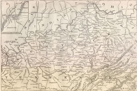 kentucky map civil war kentucky civil war map