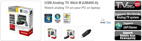 Usb Analog Tv Tuner Stick Iii Kworld Ub405 A tv tuner eksternal usb analog tv kworld stick iii ub405 a tv tuner eksternal usb