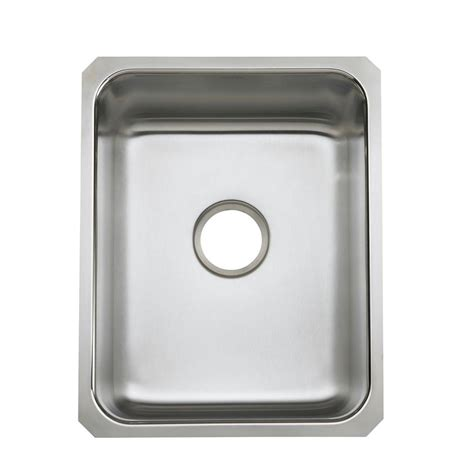 Elkay Crosstown Undermount Stainless Steel 44 In Single Kitchen Sinks Stainless Steel