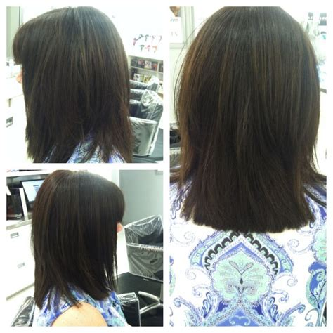 long bob with dipped ends hair i cut jen s hair into a long layered bob then i
