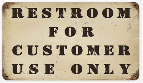 bathroom for customers only sign rr 131 restrooms for customer only sign 8 215 14