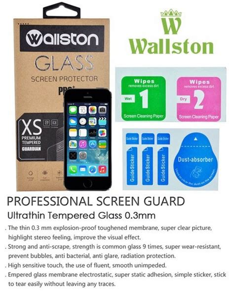 Tempered Glass Screen Protector Iphone 7 Promo Diskon Murah jual wallston glass pro tempered front with back