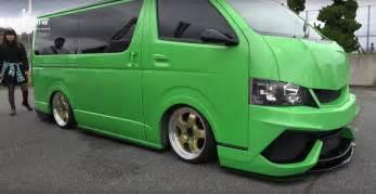 Toyota Vans Two Toyota Hiace Vans Get Lamborghini Bumpers And Paint