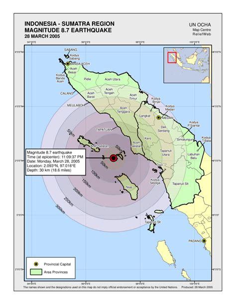 earthquake map indonesia indonesia sumatra region magnitude 8 7 earthquake