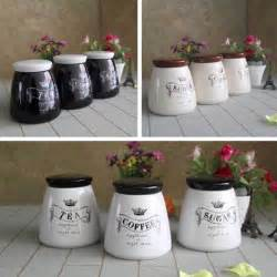 Kitchen Tea Coffee Sugar Canisters Setof3 Tea Coffee Sugar Canisters Kitchen Accessory Jars