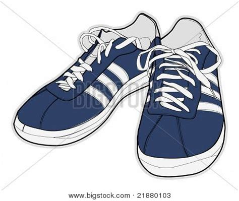 sport shoes vector vector illustration of sport shoes sneakers stock vector