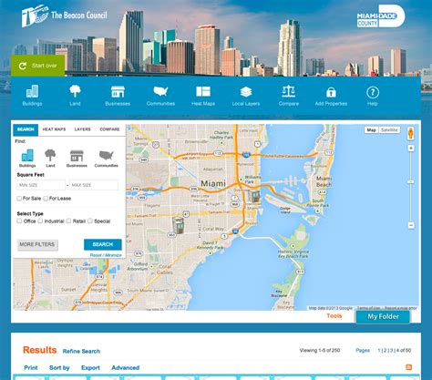 la city planning releases gis miami dade county launches gis planning web tool to showcase ideal business locations