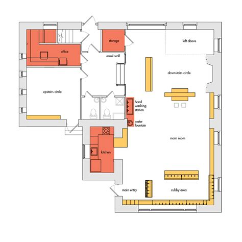 nursery school floor plan cooperative nursery school c2 architecture
