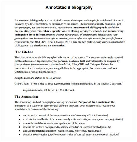 annotated bibliography template website