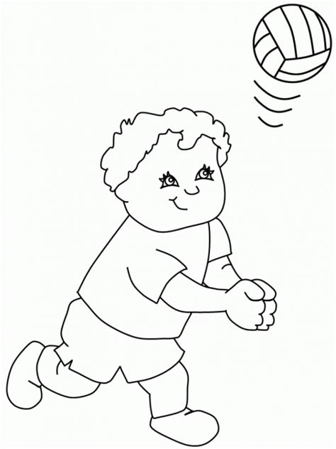 coloring pages volleyball girl volleyball printable coloring pages