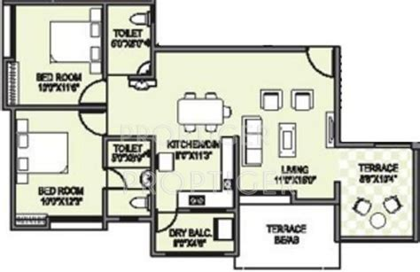graceland floor plans 1090 sq ft 2 bhk 2t apartment for sale in ganesh
