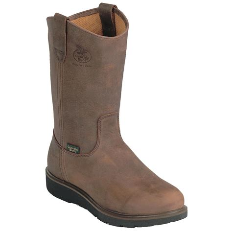 comfortable wellingtons leather comfortable tall work boot sportsman s guide