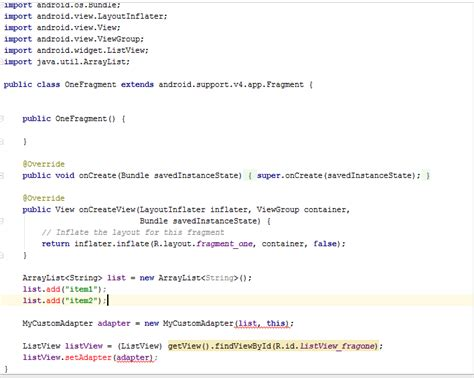layoutinflater inflater getlayoutinflater error java getting errors while adding buttons to each item in