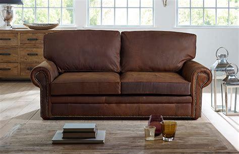 3 Seater Sb Hamilton Studded Leather Sofa Bed Studded Leather Sofa