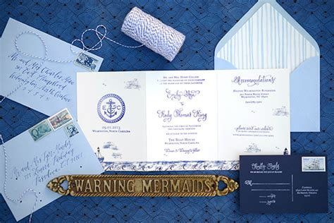 Tri Fold Invitation Paper - diy tutorial sted nautical tri fold wedding invitation