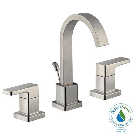 Schon Faucet by Schon Marx 8 In Widespread 2 Handle High Arc Bathroom Faucet In Brushed Nickel Hd67751w 6004
