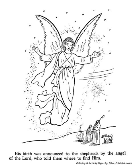 free coloring pages of angel visits christ free coloring pages of angel visits christ