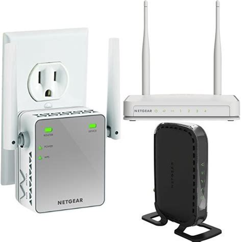 Modem Wifi Repeater netgear n300 wi fi router and range extender and docsis 3 0 cable modem router comcast modems
