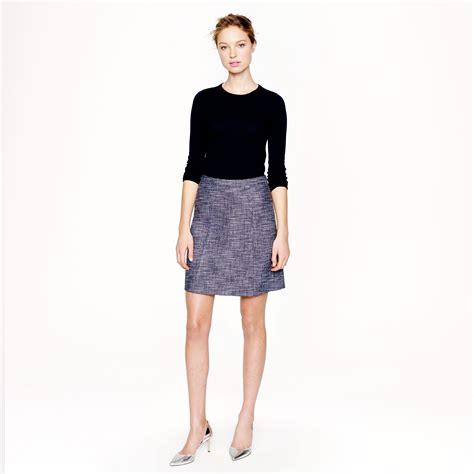 Jcrew I Do by Lyst J Crew Navy Tweed Skirt In Blue